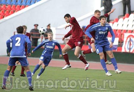 ФК «Мордовия» - «Динамо» Санкт-Петербург. 10 апреля 2010