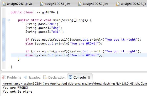 java array assignment