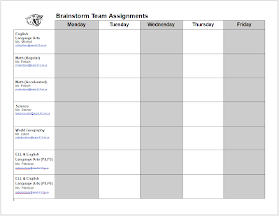 Click here to access the assignment board!