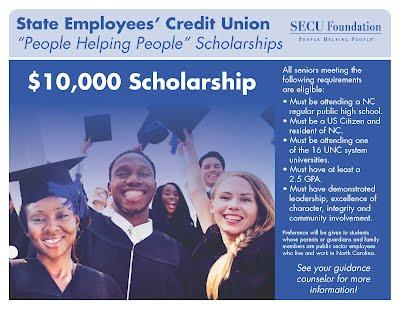 """SECU 'People Helping People"""" Scholarship"""