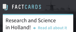 FactCards - All you need to know to do research in the Netherlands