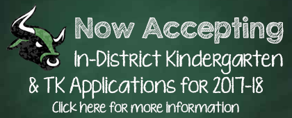 Now accepting in-district applications for Kindergarten and TK families