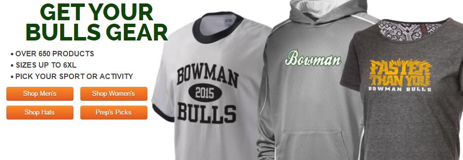 http://www.prepsportswear.com/school/us/California/Auburn/Bowman-Charter-School-Bulls.aspx?schoolid=143040