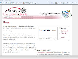 Adams12 Google Apps   (Computer) BASICS I