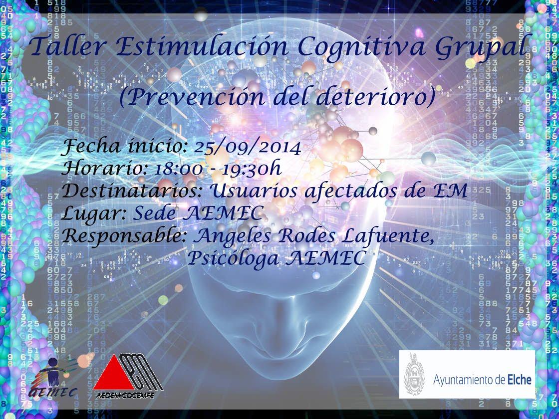 Taller estimulacion cognitiva grupal.