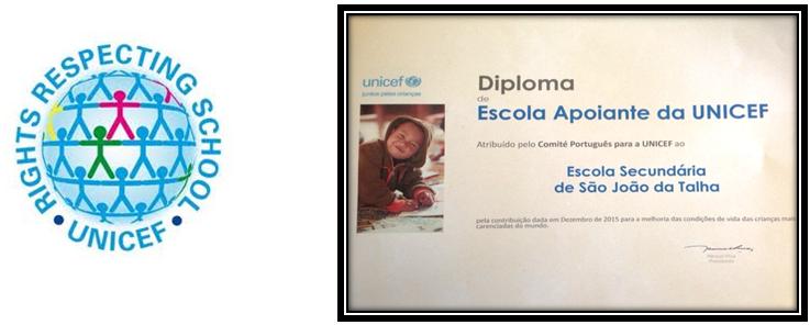 Diploma: Escola Apoiante da UNICEF!