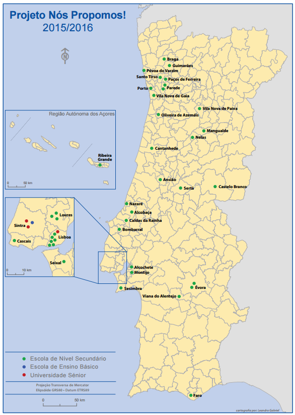 Mapa: projeto Nós Propomos!