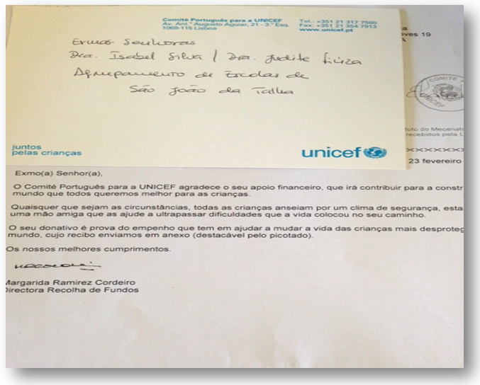 Carta digitalizada da UNICEF!