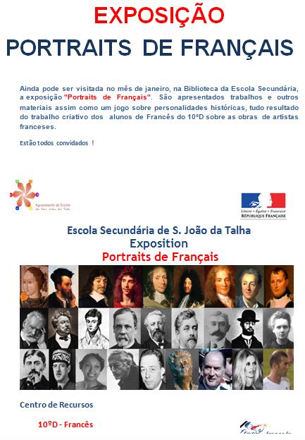 Cartaz da exposição: Portraits de Français