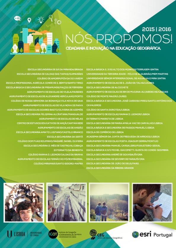 Cartaz: projeto Nós Propomos!