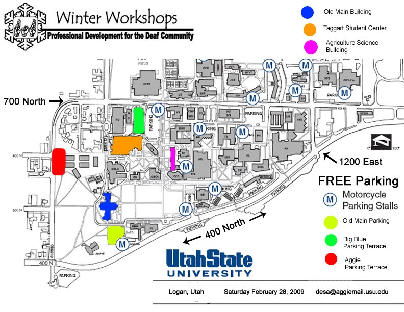 USU Campus Map   Winter Workshops