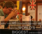 More than 46 countries expected to take part in the world's biggest chess event.