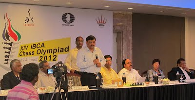 Charudatta Jadhav addressing the press.