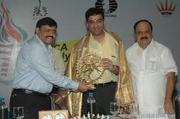 from left to right - Charudatta Jadhav, Viswanathan Anand, JCD Prabhakar