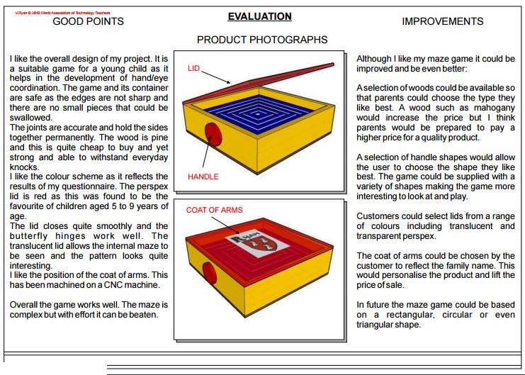 Final Development And Evaluation Junior Digital Technologies - Game design brief