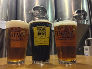 Right To Brew glasses at Straight To Ale in Huntsville