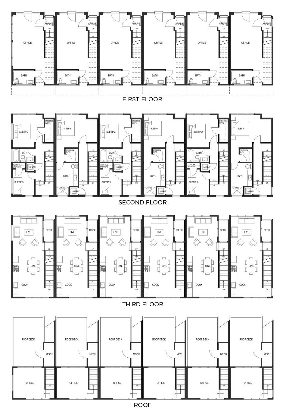 Townhouse flex plans