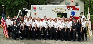 Corps members at the Allendale Fire Dept. 100th Anniversary Parade in 2010