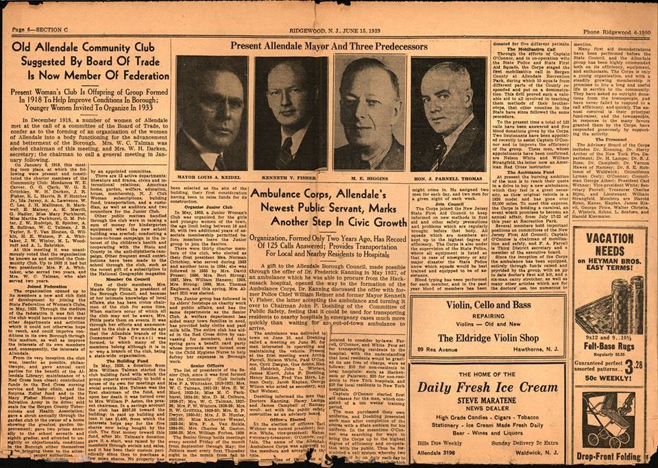 June 1939 - AVAC marks history with 125 calls in first two years