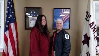 Pictured: Tracy Dickinson & AVAC President Karen Clark