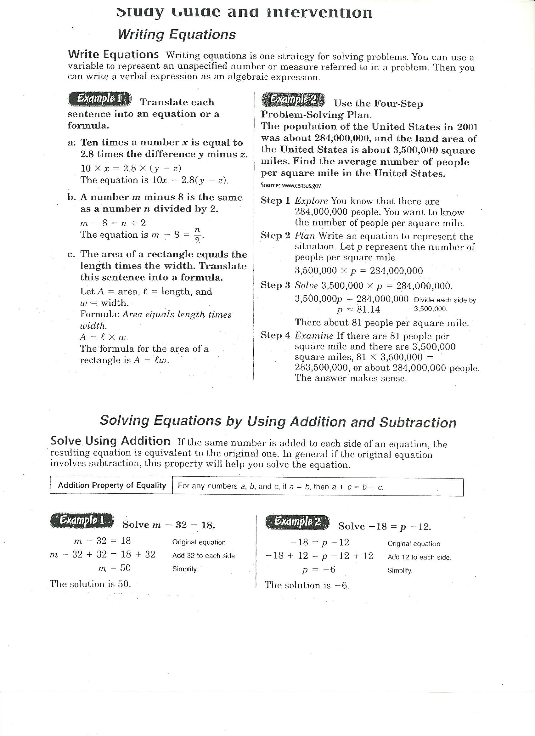 linear equation study guide Cliffsnotes study guides are written by real teachers and professors, so no matter what you're studying, cliffsnotes can ease your homework headaches and help you.