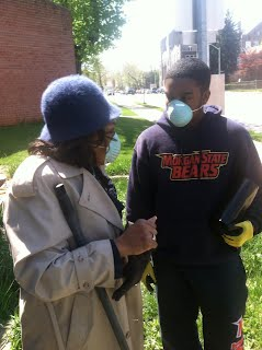 Vis and an Alpha Chapter brother helping with the National cleanup