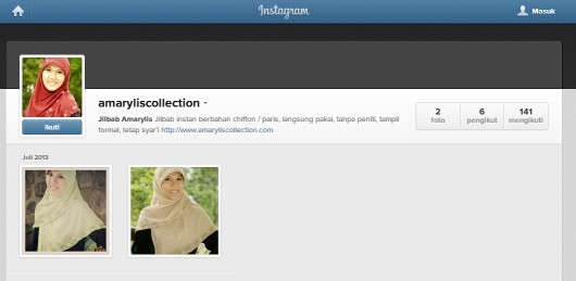 Amarylis Collection di Instagram