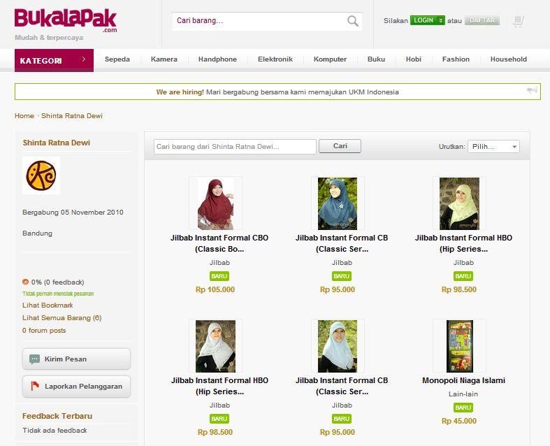 Tampilan toko online Amarylis Collection - Kepik Emas di Buka Lapak