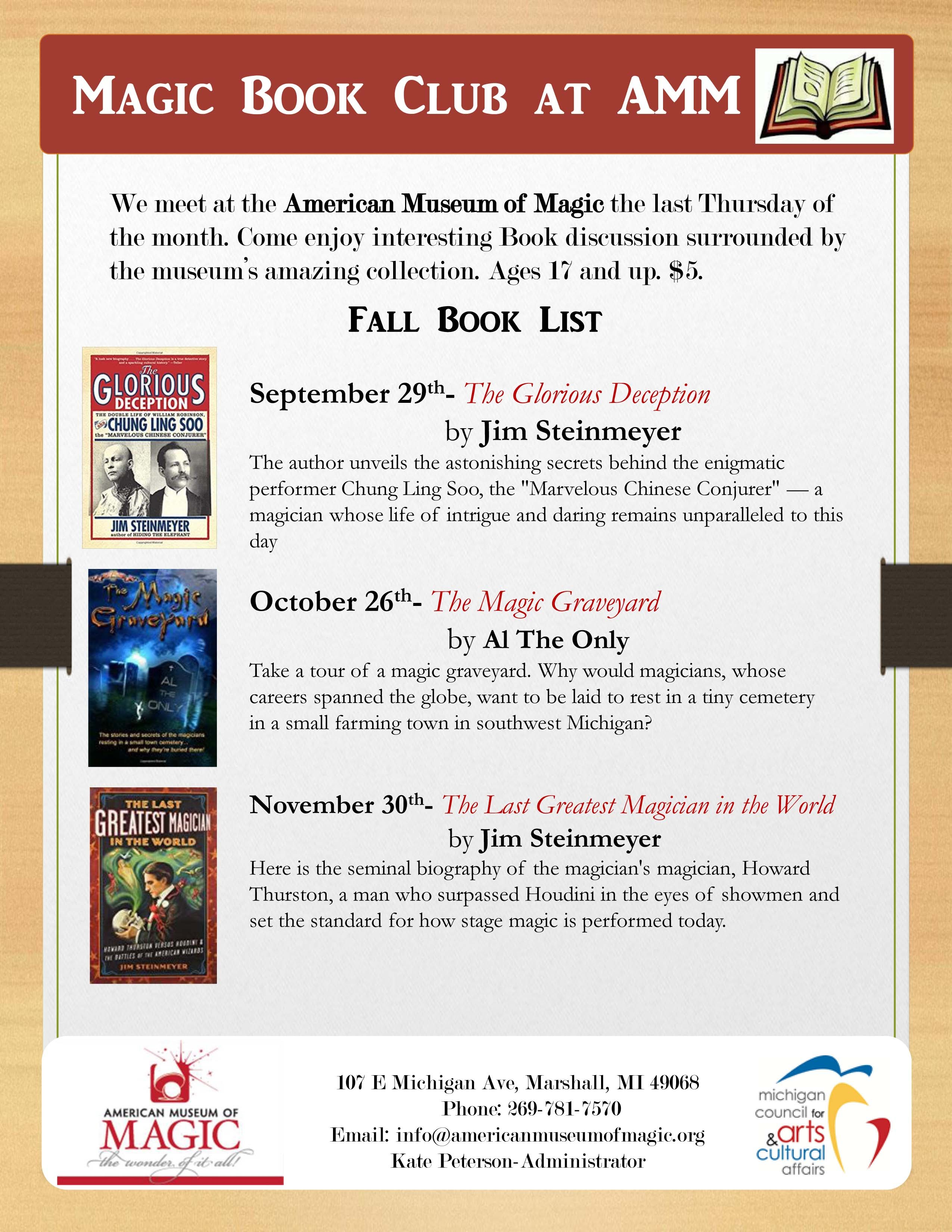 Books to read for the Magic Book Club