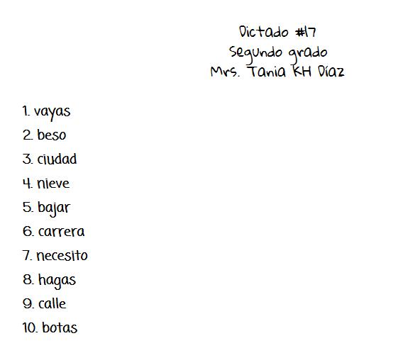 Español 2do Grado Secciones A Y D 2013 2014 Español Segundo Y Quinto