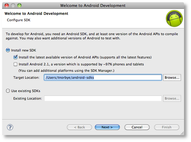 Welcome Wizard - Android Studio Project Site