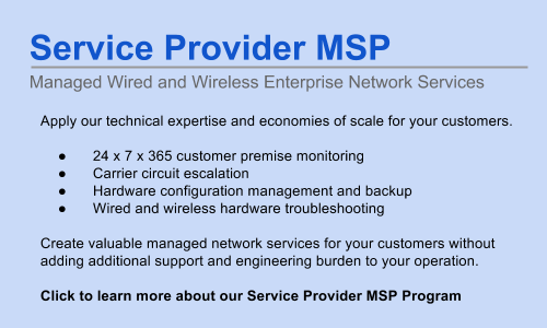 Service Provider Managed Wired and Wireless Network Services