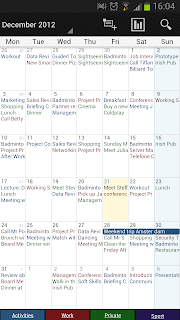 Month View with Text