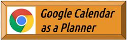 Google Calendar as a Planner