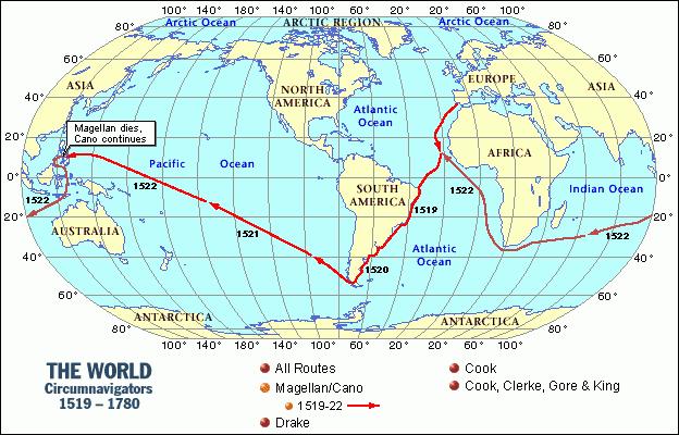 Routes Taken and Maps - Ferdinand Magellan Website by Anna