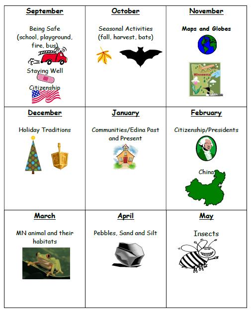 theme calendar mrs ernys first grade class