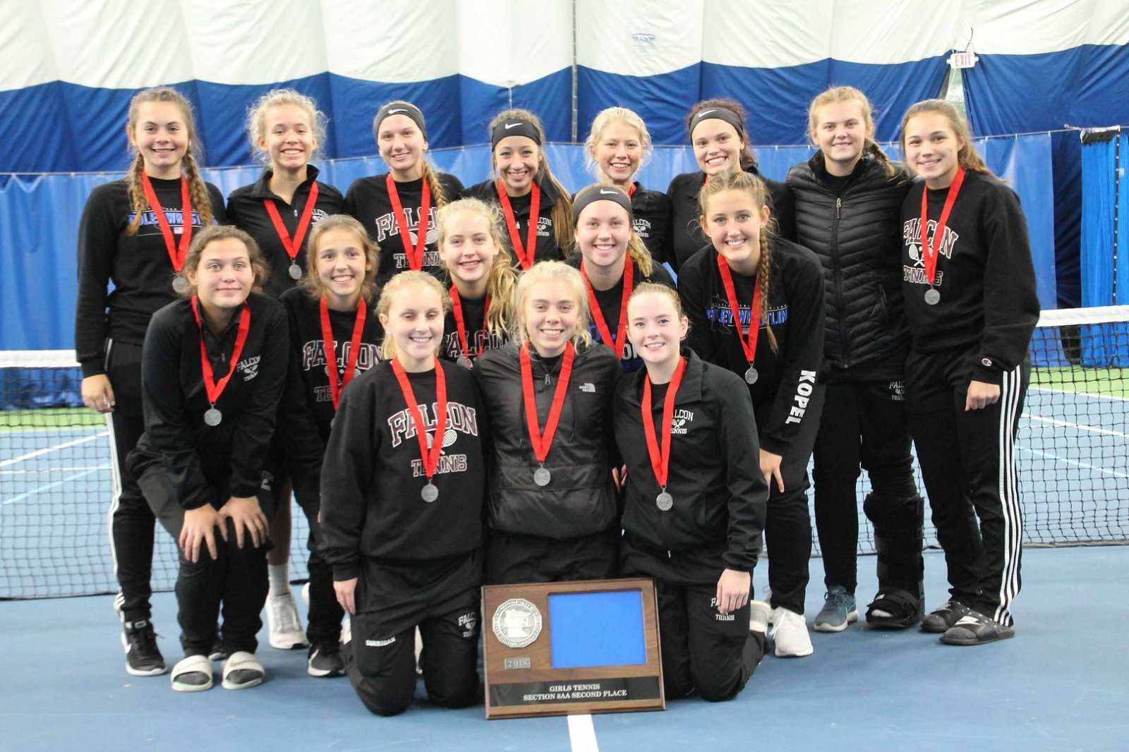 Falcon Girls Tennis finish 2nd Place at Section 8AA Tournament.