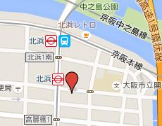 北浜駅周辺地図