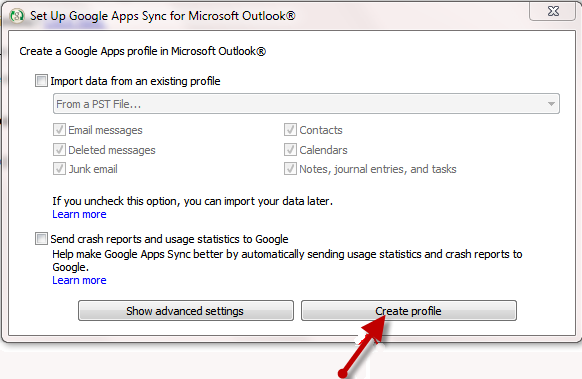 How to download and install Google Apps Sync for Microsoft