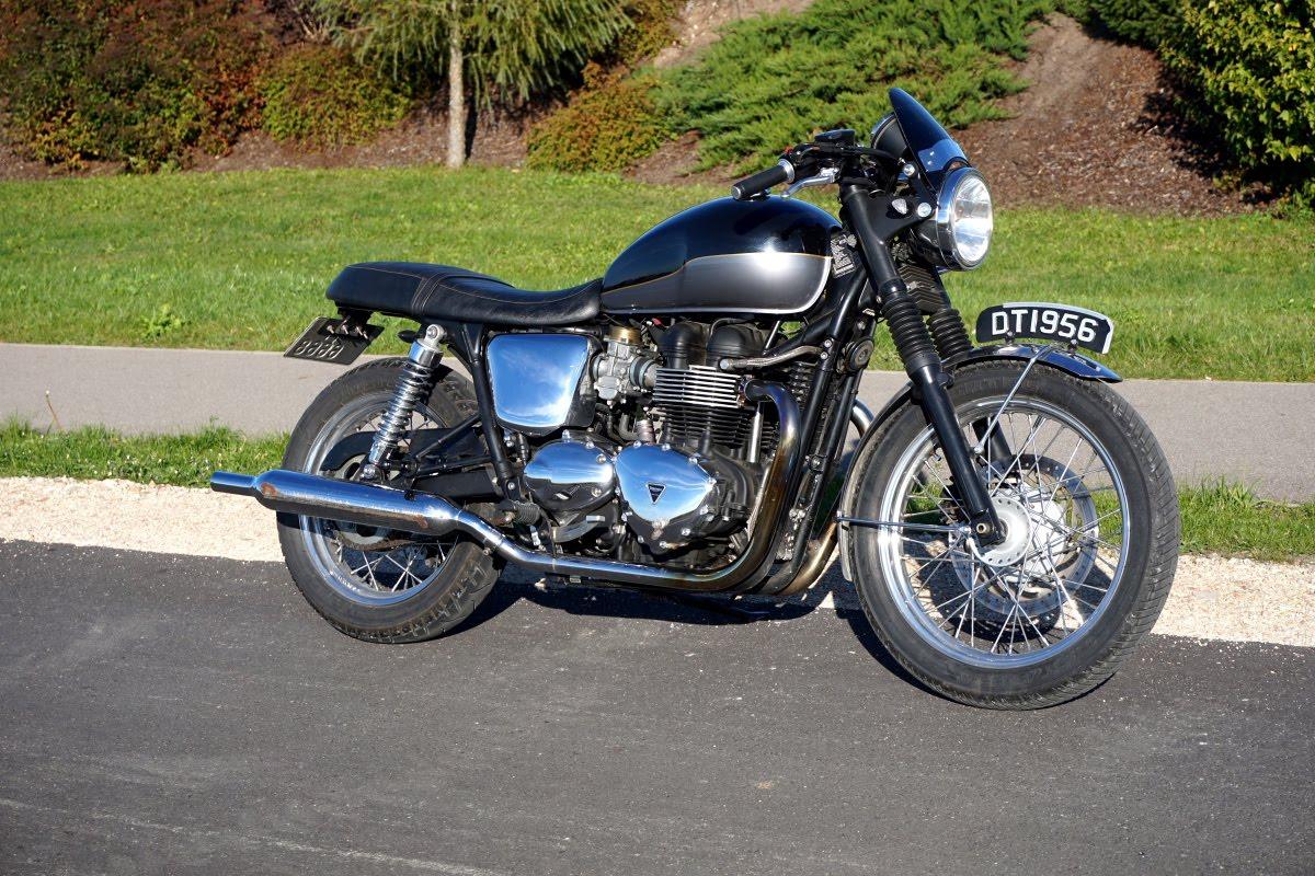 2012 Triumph Bonneville T100 Efi Cafe Racer Vintage Look
