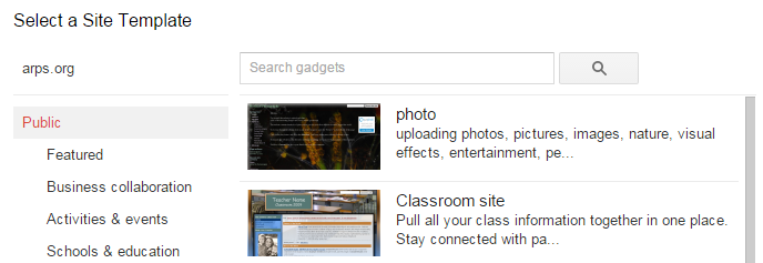 Google Sites - Research