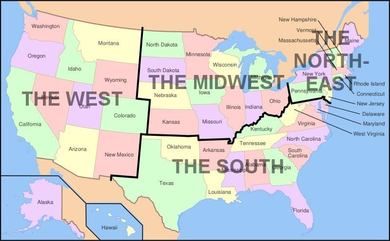 4th US Regions Wildwood Tech – Map Us Regions