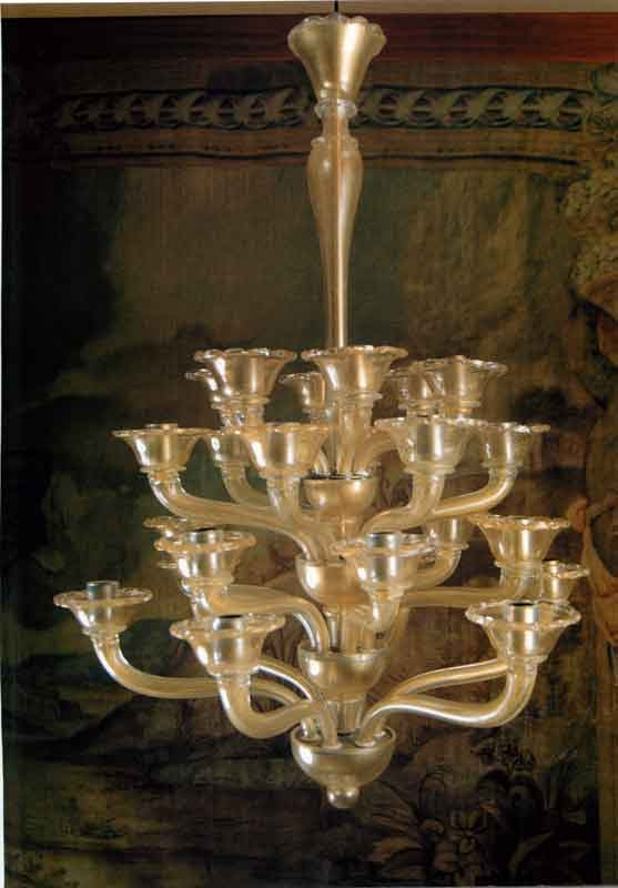 Elegant Chandelier crystal and karat gold Current production in the late th early th century taste