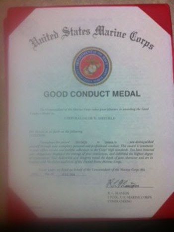 letter of commendation 2 good conduct medal
