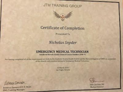 Practical Certifications - Snyder, Nicholas Portfolio
