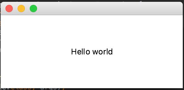 JavaFX Hello World