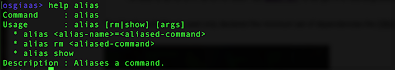 help alias command