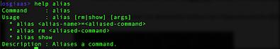 help alias command