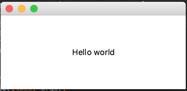 JavaFX Hello World