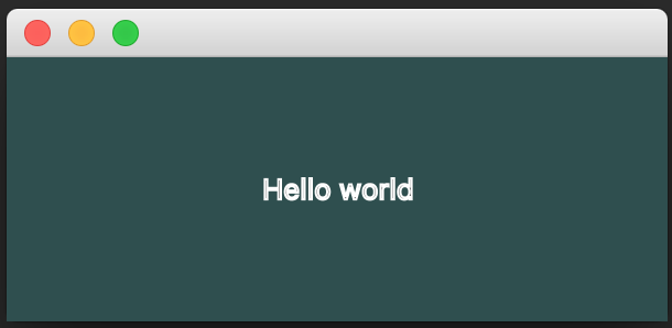 Styled JavaFX Hello World